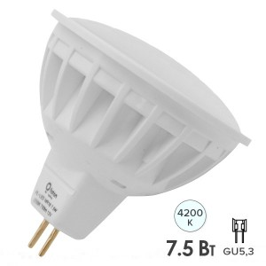Лампа светодиодная Foton FL-LEDMR16 7,5W 4200K 12V GU5.3 56xd50 700Лм белый свет