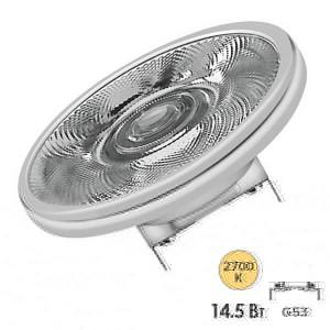 Лампа светодиодная Osram LED AR111 100 14,5W/827 DIM 24° 12V 1100lm G53