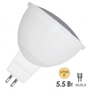 Лампа светодиодная FL-LED MR16 5.5W 2700K 12V GU5.3 510Lm d50x56mm