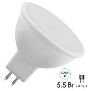 Лампа светодиодная FL-LED MR16 5.5W 4200K 12V GU5.3 510Lm d50x56mm