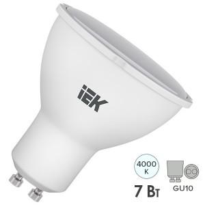 Лампа светодиодная ECO PAR16 софит 7Вт 230В 4000К GU10 IEK