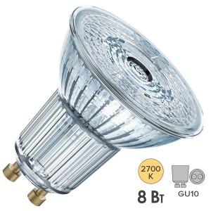 Лампа светодиодная Osram LED 1-PARATHOM PAR16 80 8W/827 DIM 60° 230V GU10 575lm d50x58mm