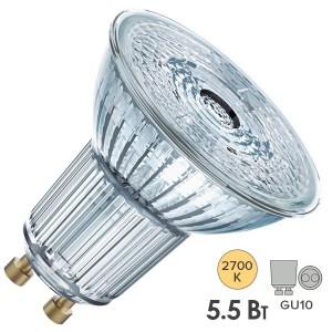 Лампа светодиодная Osram LED 1-PARATHOM PAR16 50 5,5W/927 DIM 36° 230V GU10 350lm d51x55mm