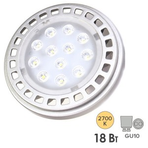 Лампа светодиодная Foton FL-LED AR111 18W 2700K 30° 220V 1400lm GU10 теплый свет