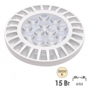 Лампа светодиодная PLED-AR111 15W 3000K 1200Lm G53185-265V Jazzway