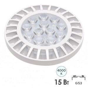 Лампа светодиодная PLED-AR111 15W 4000K 1200Lm G53185-265V Jazzway