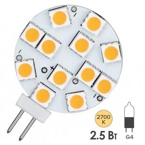 Лампа светодиодная LED NV-Stiftsockel downl. 2,5W 2700K G4 12V 180Lm