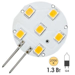 Лампа светодиодная LED NV-STS downlight 1,3W 2700K 12V G4 130Lm
