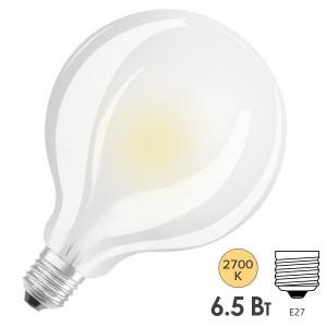 Лампа светодиодная Osram PARATHOM GLOBE 95 GL FR 6,5W/827 (60W) 230V E27 806lm LEDVANCE