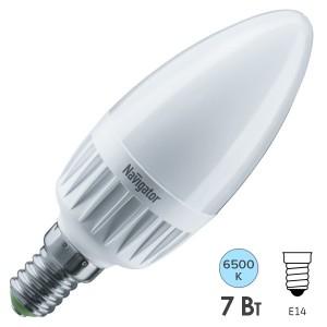 Лампа Navigator 61 240 NLL-C37-7-230-6.5K-E14-FR