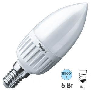 Лампа Navigator 61 249 NLL-P-C37-5-230-6.5K-E14-FR