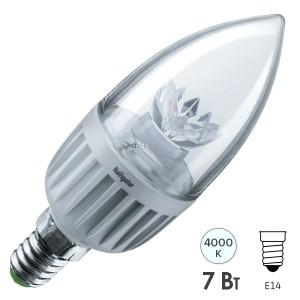 Лампа Navigator 71 853 NLL-C37-7-230-4K-E14-CL