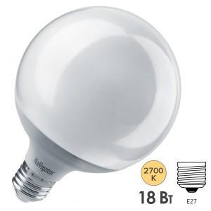 Лампа Navigator 14 164 NLL-G120-18-230-2.7K-E27 (шар)