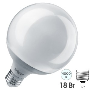 Лампа Navigator 14 165 NLL-G120-18-230-4K-E27 (шар)
