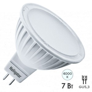 Лампа Navigator 61 383 NLL-MR16-7-230-4K-GU5.3-DIMM