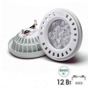 Лампа светодиодная VS LED AR111 12W 4000K 38° 12V G53 белый свет