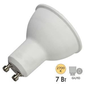 Лампа светодиодная Feron MR16 LB-26 7W 2700K 560Лм 220V GU10 теплый свет